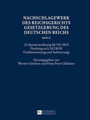 cover image of Nachschlagewerk des Reichsgerichts  Gesetzgebung des Deutschen Reichs