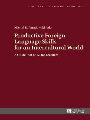 cover image of Productive Foreign Language Skills for an Intercultural World