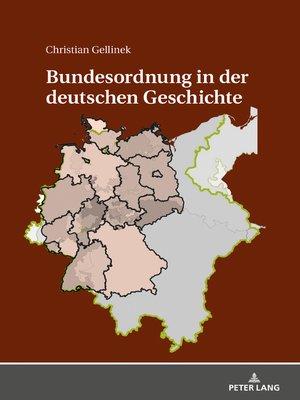 cover image of Bundesordnung in der deutschen Geschichte