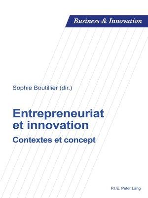 cover image of Entrepreneuriat et innovation