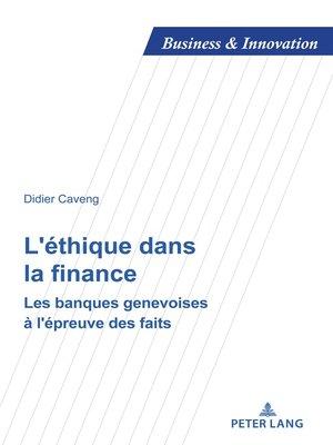 cover image of L'éthique dans la finance