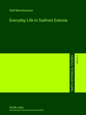cover image of Everyday Life in Stalinist Estonia