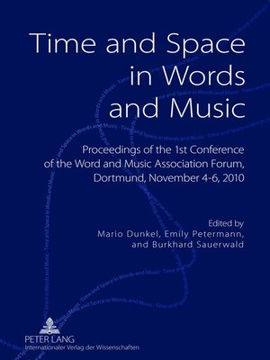 cover image of Time and Space in Words and Music