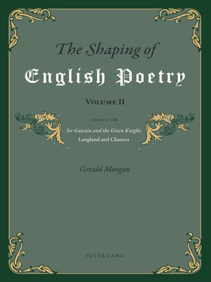 cover image of The Shaping of English Poetry- Volume II