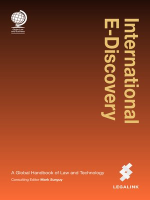 cover image of International E-Discovery