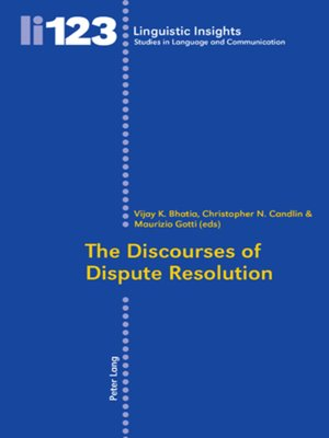 cover image of The Discourses of Dispute Resolution