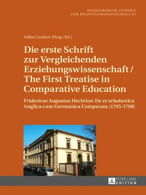 cover image of Die erste Schrift zur Vergleichenden Erziehungswissenschaft/The First Treatise in Comparative Education
