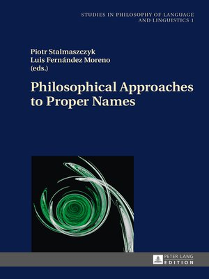 cover image of Philosophical Approaches to Proper Names