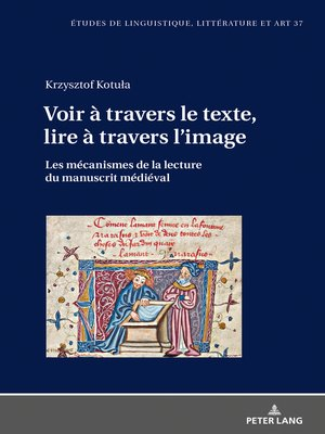 cover image of Voir à travers le texte, lire à travers limage