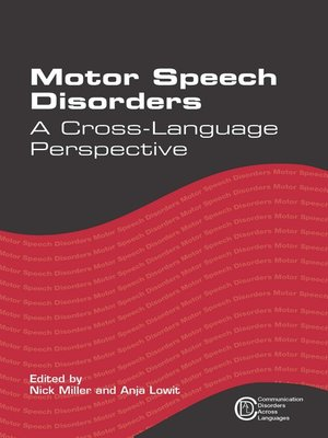 cover image of Motor Speech Disorders