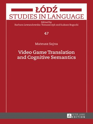 cover image of Video Game Translation and Cognitive Semantics