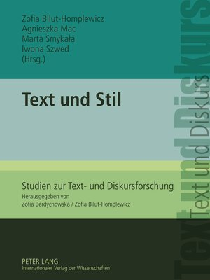cover image of Text und Stil