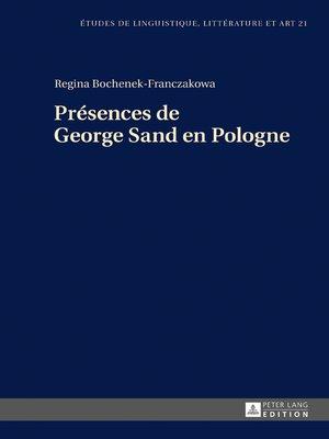 cover image of Présences de George Sand en Pologne