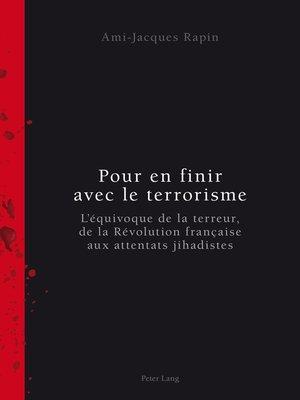 cover image of Pour en finir avec le terrorisme