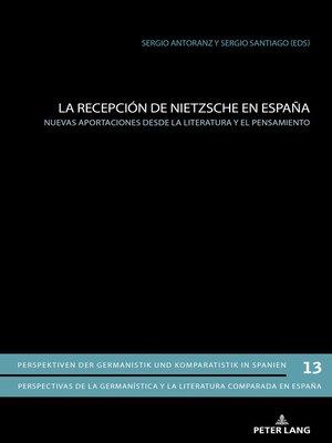 cover image of La recepción de Nietzsche en España