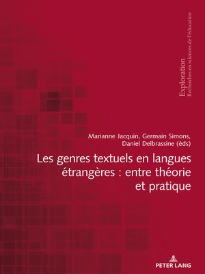 cover image of Les genres textuels en langues étrangères