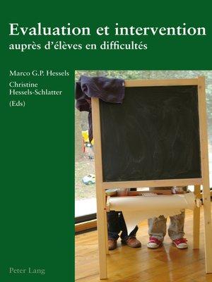 cover image of Evaluation et intervention auprès délèves en difficultés