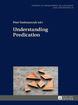 cover image of Understanding Predication