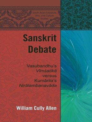 cover image of Sanskrit Debate