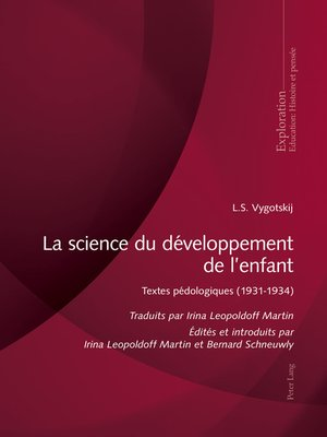cover image of La science du développement de lenfant