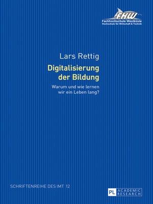 cover image of Digitalisierung der Bildung