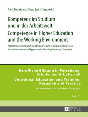 cover image of Kompetenz im Studium und in der Arbeitswelt- Competence in Higher Education and the Working Environment