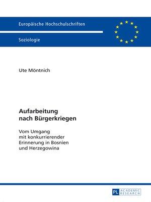 cover image of Aufarbeitung nach Buergerkriegen