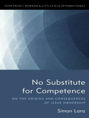 cover image of No Substitute for Competence