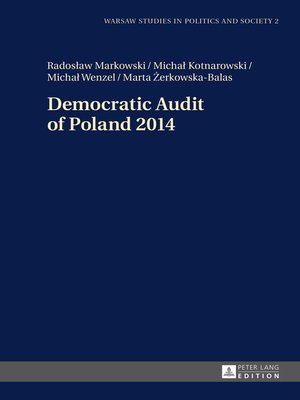 cover image of Democratic Audit of Poland 2014
