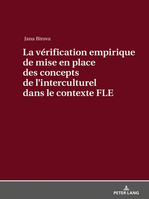 cover image of La vérification empirique de mise en place des concepts de lʹinterculturel dans le contexte FLE