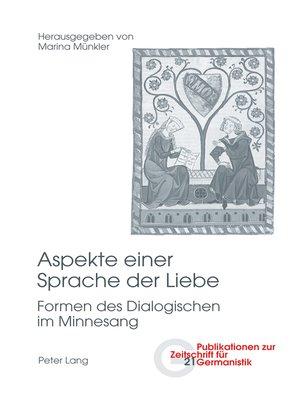 cover image of Aspekte einer Sprache der Liebe