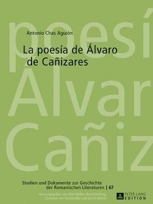 cover image of La poesía de Álvaro de Cañizares