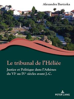 cover image of Le tribunal de lHéliée