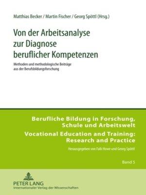 cover image of Von der Arbeitsanalyse zur Diagnose beruflicher Kompetenzen