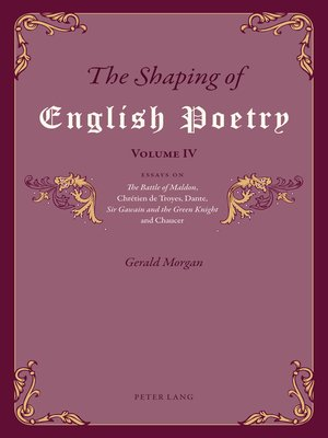 cover image of The Shaping of English Poetry  Volume IV