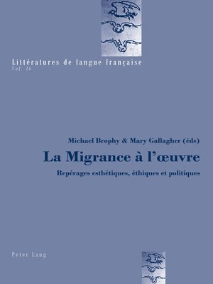 cover image of La Migrance à lœuvre