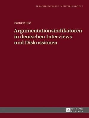cover image of Argumentationsindikatoren in deutschen Interviews und Diskussionen
