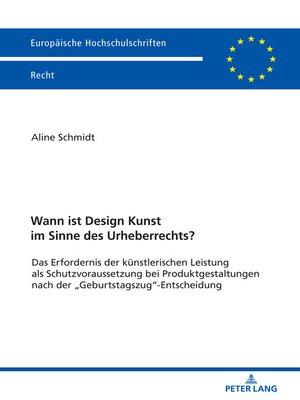 cover image of Wann ist Design Kunst im Sinne des Urheberrechts?