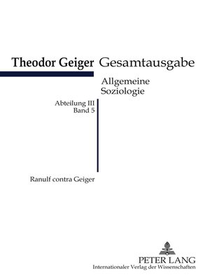 cover image of Ranulf contra Geiger