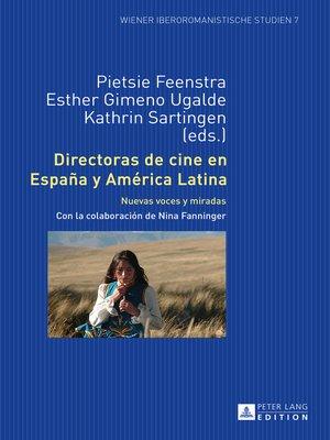 cover image of Directoras de cine en España y América Latina