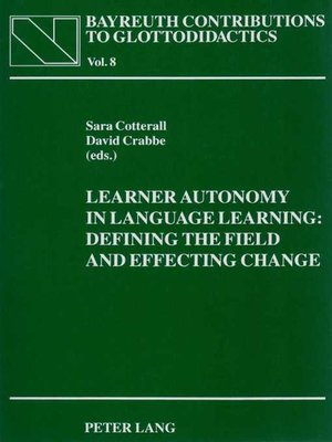 cover image of Learner Autonomy in Language Learning
