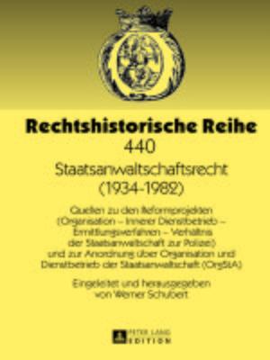 cover image of Staatsanwaltschaftsrecht (1934-1982)