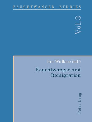 cover image of Feuchtwanger and Remigration