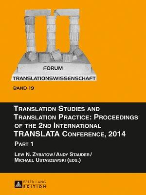 cover image of Translation Studies and Translation Practice