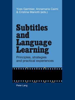 cover image of Subtitles and Language Learning