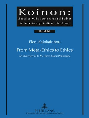 cover image of From Meta-Ethics to Ethics