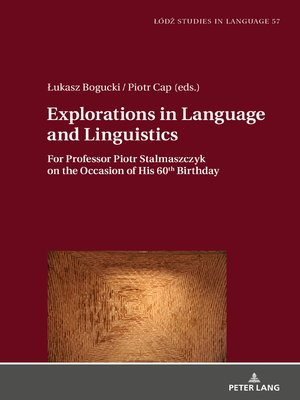 cover image of Explorations in Language and Linguistics