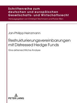 cover image of Restrukturierungsvereinbarungen mit Distressed Hedge Funds