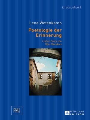 cover image of Poetologie der Erinnerung