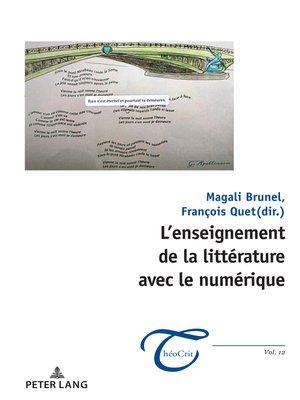 cover image of L'enseignement de la littérature avec le numérique